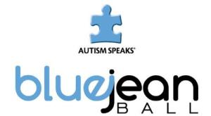 AUTISM SPEAKS BLUE JEAN BALL LOGO